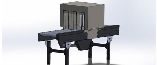 Transportador de banda Convex-technology con esterilizador UV en C continuo, 3d