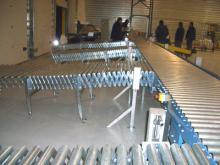 Instalación de transportadores de rodillos