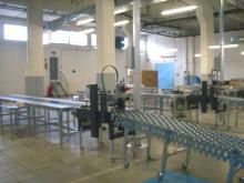 Instalación de externalización: Manipulado de cajas y sistema de rechazo aéreo