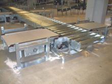 Instalación de externalización: Transporte de palets en un colector