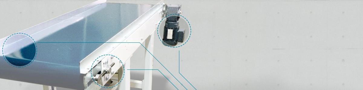 transportadoresde banda Convex para el manejo de cajas y palets en  instalaciones industriales transportadores con medidas estándar o especiales