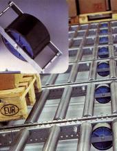 Brake-rollers Convex - componentes importantes en transportadores de rodillos de instalaciones industriales para la manipulación de palets