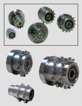 Cabezales Convex de acero inoxidable con piñón Serie CB5000 para transportadores motorizados y traslado de cargas en instalaciones industriales