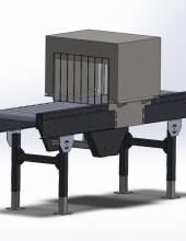 Transportador de banda Convex-technology con esterilizador en C continuo, 3d