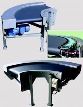 Curva de banda CVB para transportadores de banda Convex y manipulación de cajas en instalaciones industriales