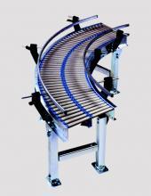 Curva de rodillos accionados por gravedad CVG085 para transportadores de rodillos convex