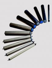 Rodillos  Convex serie CX100 con rodamientos de bolas libres para transportadores de rodillos en instalaciones industriales