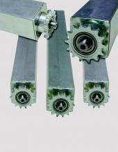 Rodillos serie CX5000.C. Tubo cuadrado con piñón simple o doble.