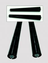 Rodillos cónicos serie CX6000 retractiles o fijos para transportadores de rodillos en instalaciones industriales