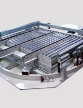 Mesa giratoria de rodillos con transfer