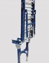 Paso abatible Convex para transportadores de rodillos accionados por gravedad