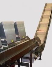 Transportador de banda modular  con elevador serie TBME