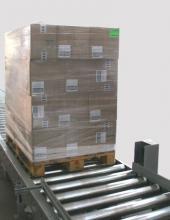 Transportador de rodillos para el manejo de palets en instalaciones industriales