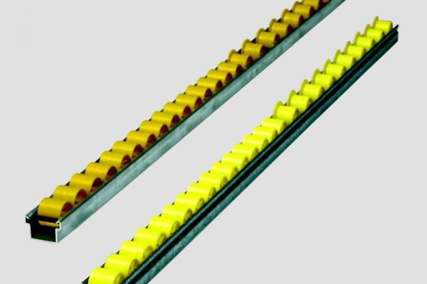 Mini rail Convex de aluminio o zinc galvanizado para traslado de cajas y bultos en instalaciones industriales