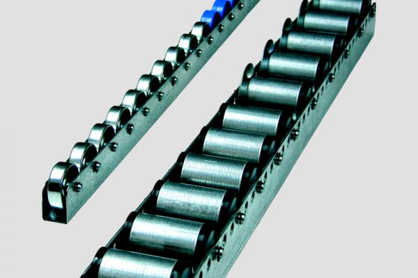Rail Convex para el transporte de cajas o para el transporte de palets en instalaciones industriales