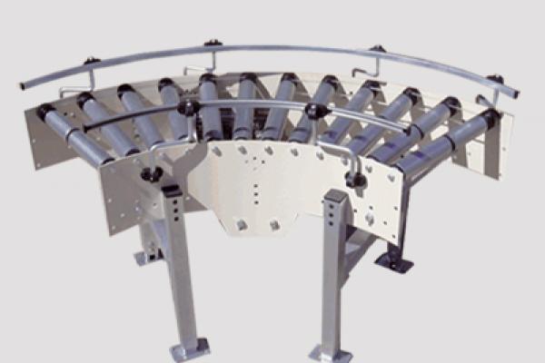 Curva de rodillos CVC de Convex para transportadores de rodillos en instalaciones industriales