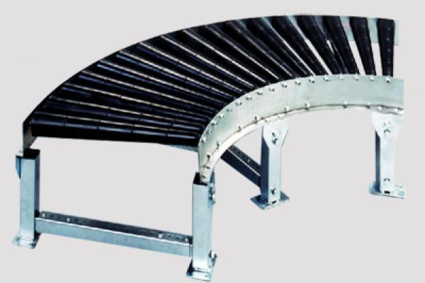 Curva de rodillos cónicos gravedad CVG150C para trasportadores de rodillos Convex accionados por gravedad