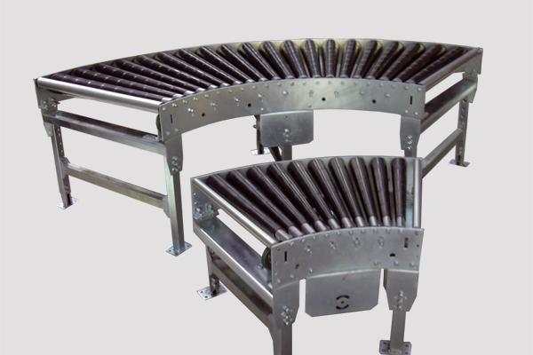 Curva motorizada de rodillos para transportadores de rodillos Convex