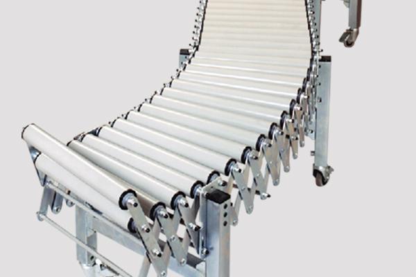 Transportador extensible de rodillos Convex. Longitudes y anchos especiales bajo demanda.